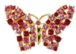 Kenneth Jay Lane Glass Stone Butterfly Pin