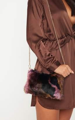PrettyLittleThing Multi Faux Fur Cross Body Bag