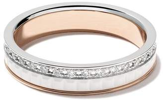 Boucheron 18kt white and rose Diamond Quatre White band ring