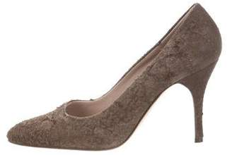 Helmut Lang Distressed Pointed-Toe Pumps