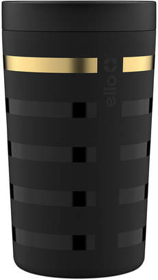 Ello Jones 11-Oz. Stainless Steel Coffee Tumbler, Black Metallic Stripes