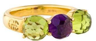 Ring 18K Amethyst & Peridot Cocktail