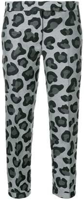 Thom Browne Leopard Wool & Silk Jacquard Lowrise Skinny Trouser