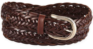 Brunello Cucinelli Men's Braided Leather Belt