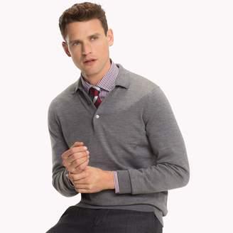 Tommy Hilfiger Luxury Wool Long-Sleeve Polo