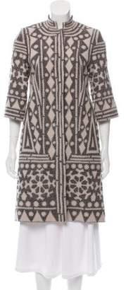 Naeem Khan Wool Patterned Coat