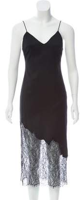 Alice + Olivia Wool Lace-Accented Dress