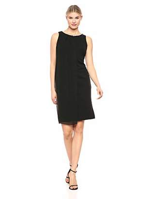 SL Fashions Women's Envelope Hem Pleat Front Dress