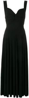 Norma Kamali pleated flare dress
