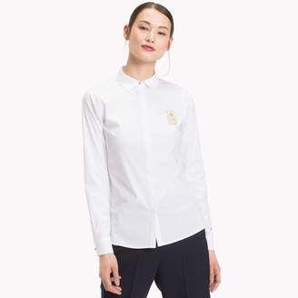 Tommy Hilfiger Stretch Cotton Poplin Crest Shirt