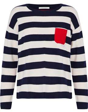 Chinti and Parker Striped Color-Block Cashmere Sweater