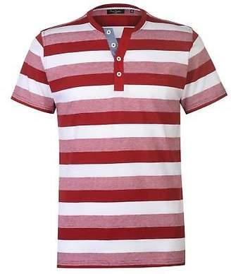 Pierre Cardin Mens Y Neck Stripe Tee V Neck T Shirt