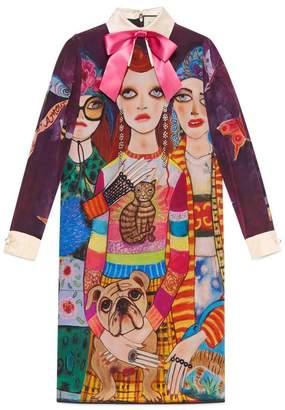 Gucci Unskilled Worker silk dress