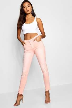 boohoo Glitter Stripe Peach Skinny Jean