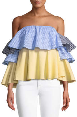 STYLEKEEPERS Virgo Off-The-Shoulder Ruffle Top