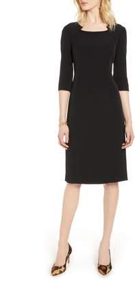 Halogen Stretch Crepe Sheath Dress