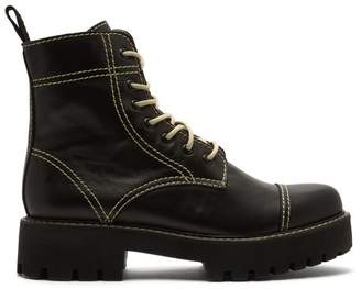 ALEXACHUNG Military Leather Boots - Womens - Black