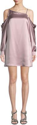 Parker Amelia Cold-Shoulder Silk Dress