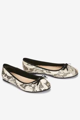 4085b36b26c3 Next Womens Evans Blue Extra Wide Fit Snake Ballerina