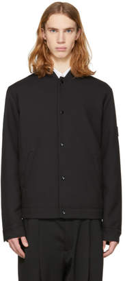 McQ Black Twill Windbreaker Bomber Jacket