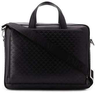 Emporio Armani logo print laptop bag