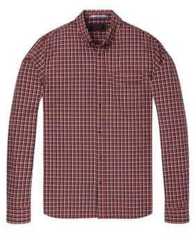 Scotch & Soda Plaid Button-Down Shirt