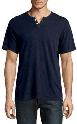 Joe's Jeans Wintz Short-Sleeve Cotton Henley
