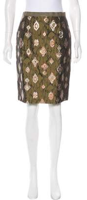 Oscar de la Renta Jacquard Knee-Length Skirt w/ Tags