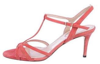 Sarah Jessica Parker Suede Multistrap Sandals