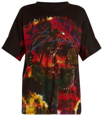 Balmain Beach Club Print Cotton T Shirt - Womens - Black Multi
