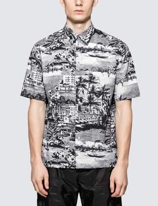 MSGM City Print S/S Bowling Shirt