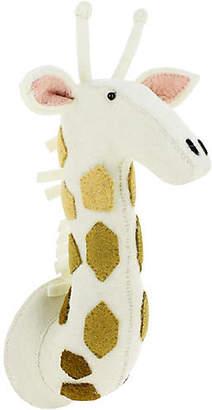 Giraffe Wall-Mounted Plush Toy - Cream/Gold - EFL Kids