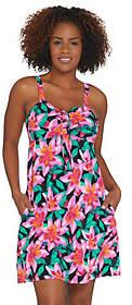 Denim & Co. Beach A-Line Swim Dress