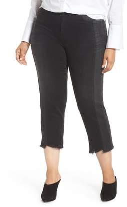 Marina Rinaldi ASHLEY GRAHAM X Idrovoro Step Hem Crop Jeans