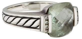 David Yurman Prasiolite and Diamond Deco Ring