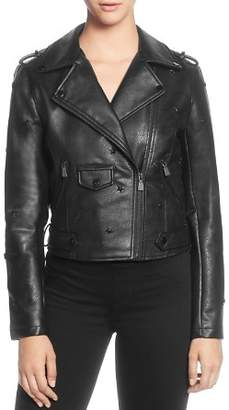 Catherine Malandrino Star-Studded Moto Jacket
