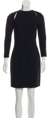 Michael Kors Wool Zip-Up Dress Black Wool Zip-Up Dress