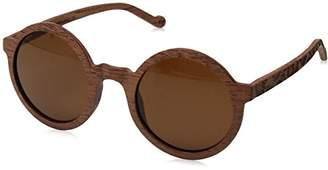Earth Wood Canary Wood Sunglasses Polarized Round