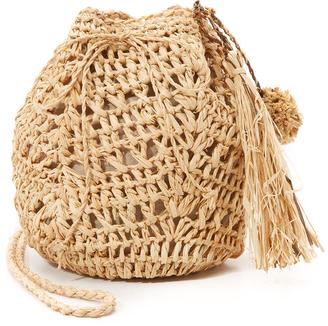 Hat Attack Raffia Pouchette Bag $78 thestylecure.com