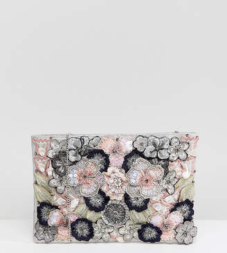 Accessorize Alanis floral clutch