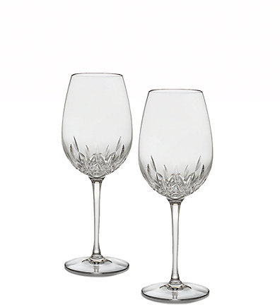 Waterford Lismore Essence Crystal Red Wine Glass/Set of 2