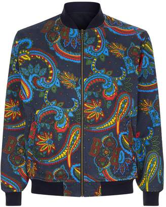 Billionaire Boys Club Paisley Print Reversible Bomber Jacket