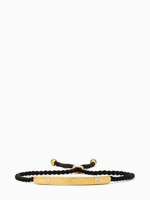 Kate Spade Say yes heart of gold slider bracelet