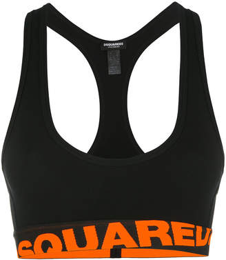 DSQUARED2 logo sports bra