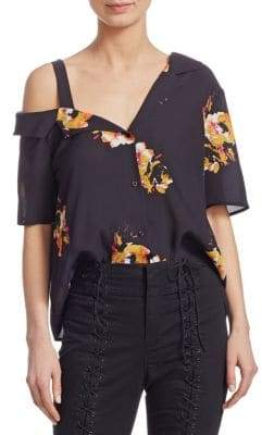 A.L.C. Bronte Floral Silk Top