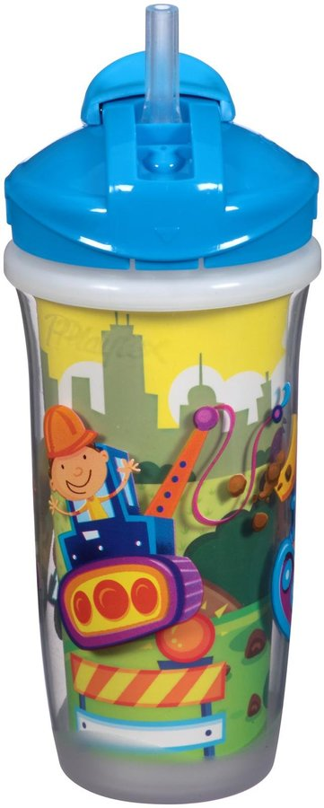 Playtex Baby Playtime Insulator Straw Cup - Boy - 9 oz - 2 ct