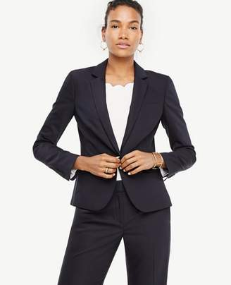 Ann Taylor Petite Tropical Wool One Button Perfect Blazer