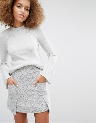 Warehouse Flare Cuff Sweater $63 thestylecure.com