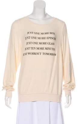 Wildfox Couture Long Sleeve Graphic Sweater