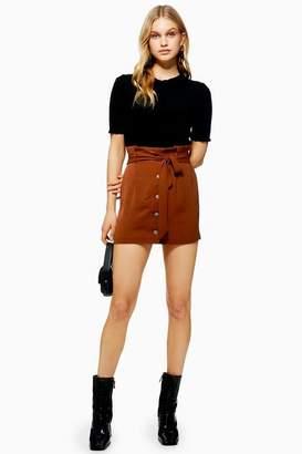 Topshop Womens Paperbag Mini Skirt